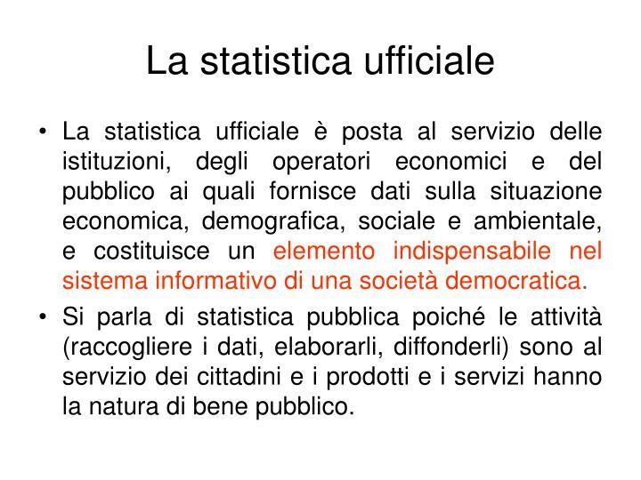 La statistica ufficiale