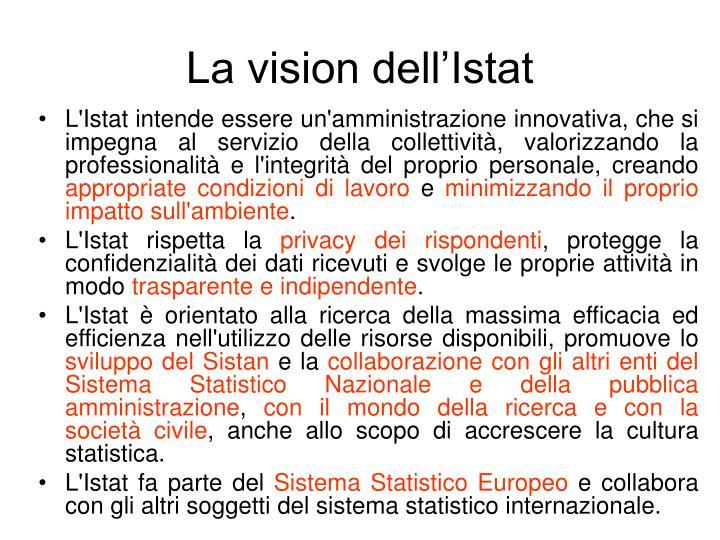 La vision dell'Istat