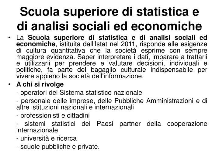 Scuola superiore di statistica e di analisi sociali ed economiche