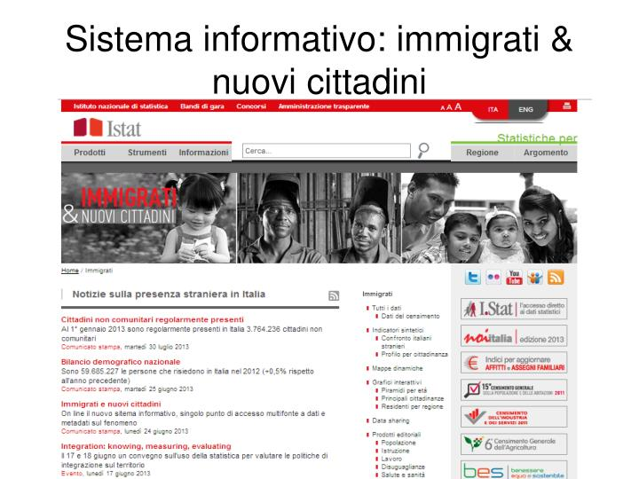 Sistema informativo: immigrati & nuovi cittadini