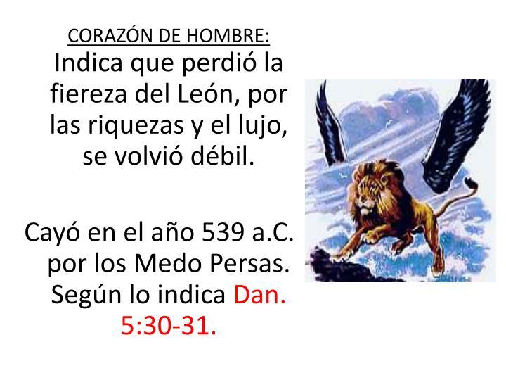 CORAZN DE HOMBRE: