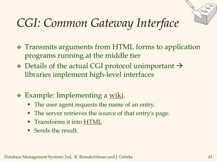 CGI: Common Gateway Interface