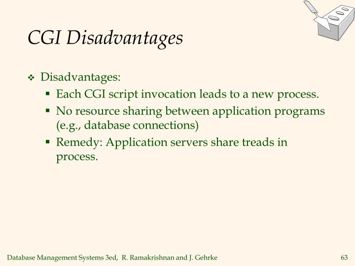 CGI Disadvantages