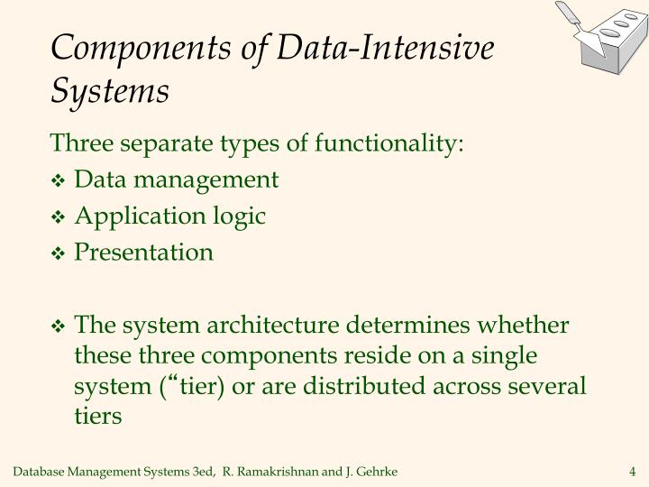 Components of data intensive systems