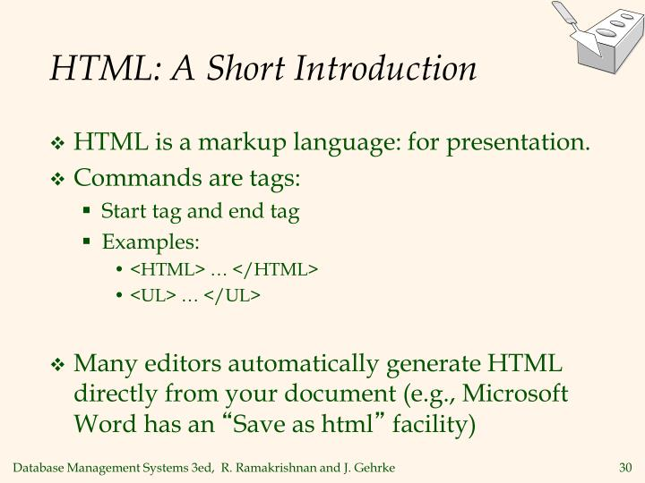 HTML: A Short Introduction