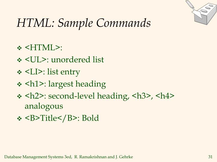 HTML: Sample Commands