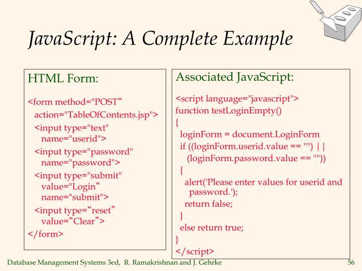 HTML Form: