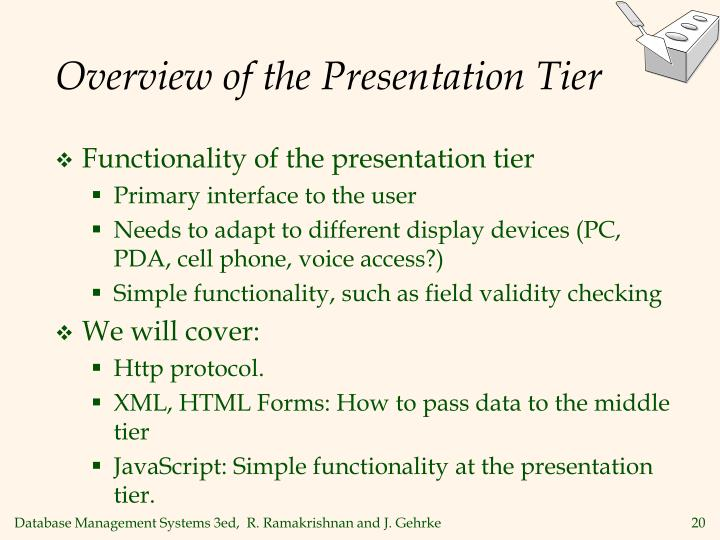 Overview of the Presentation Tier