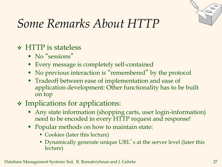 Some Remarks About HTTP
