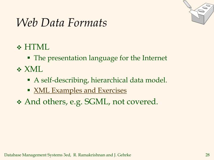 Web Data Formats