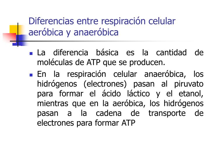 Diferencias entre respiración celular aeróbica y anaeróbica