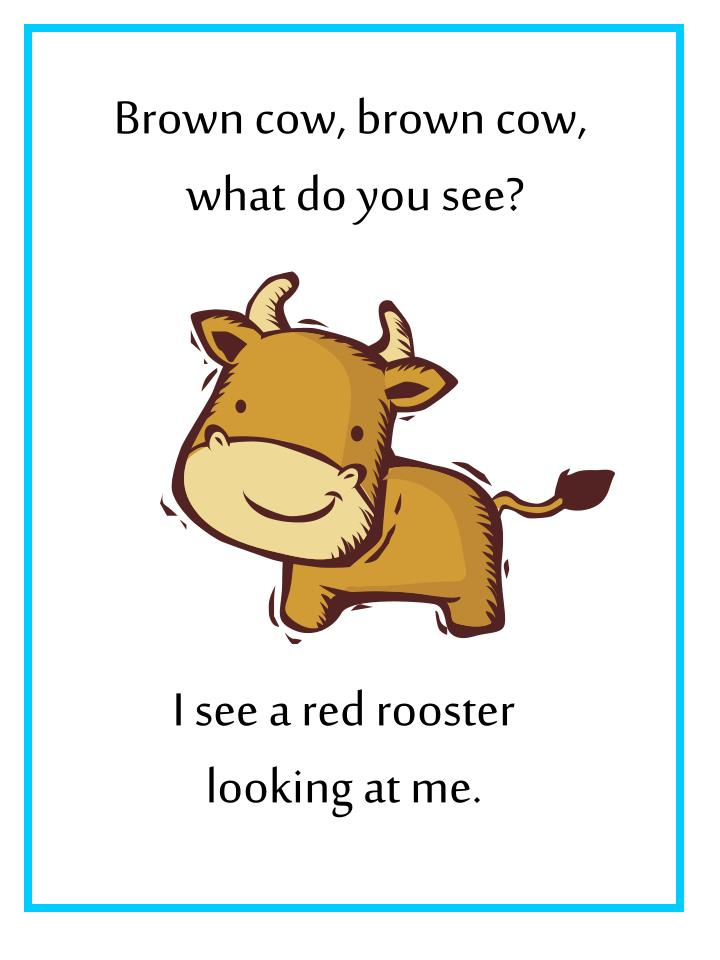 Brown cow, brown cow,