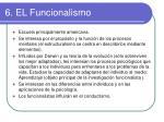 6 el funcionalismo