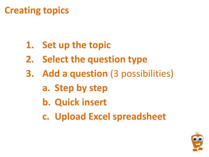 Creating topics