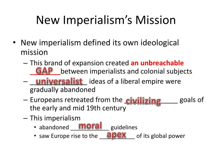 factors responsible for new imperialism Imperialism (the practice of maintaining colonies) and imperial rivalry (competition for new or existing colonies) were significant causes of world war i.