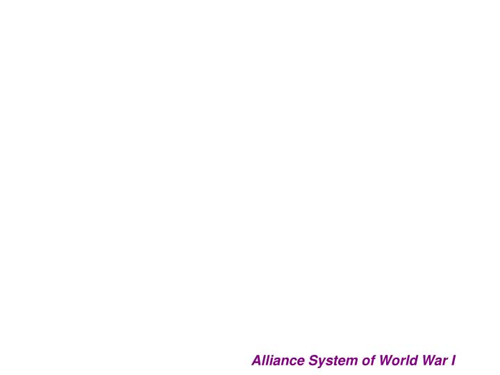 Alliance System of World War I