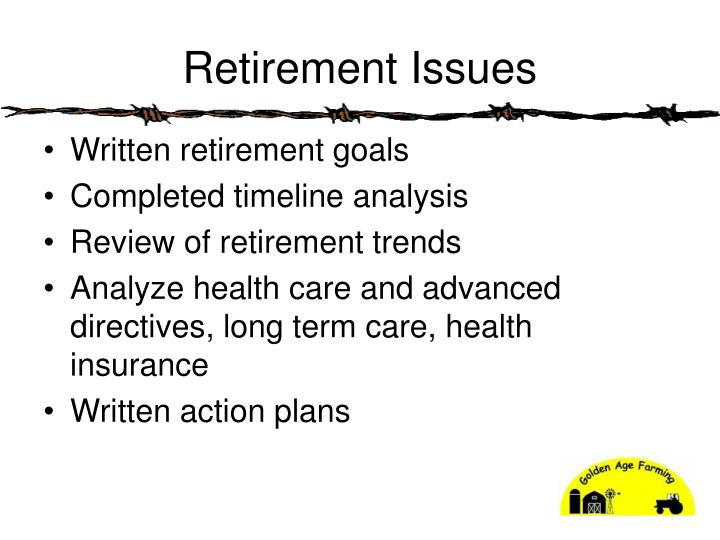 Retirement Issues
