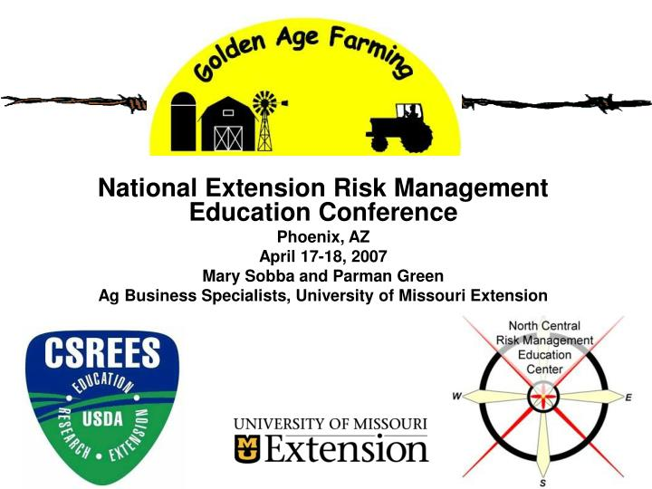 National Extension Risk Management Education Conference