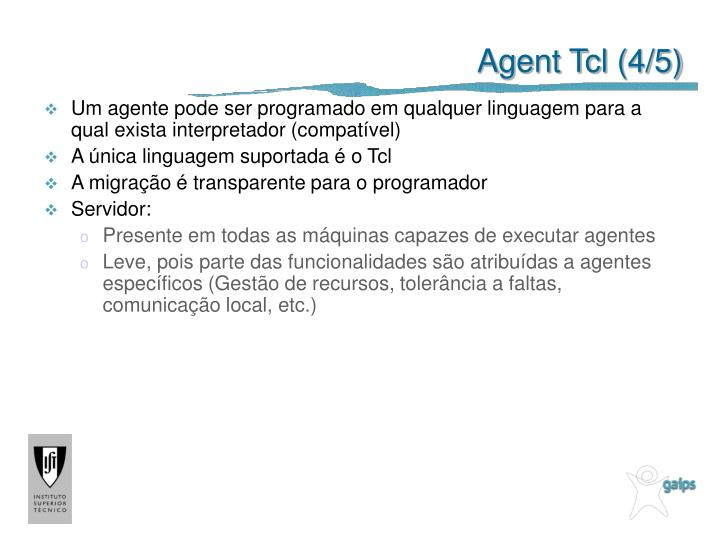 Agent Tcl (4/5)