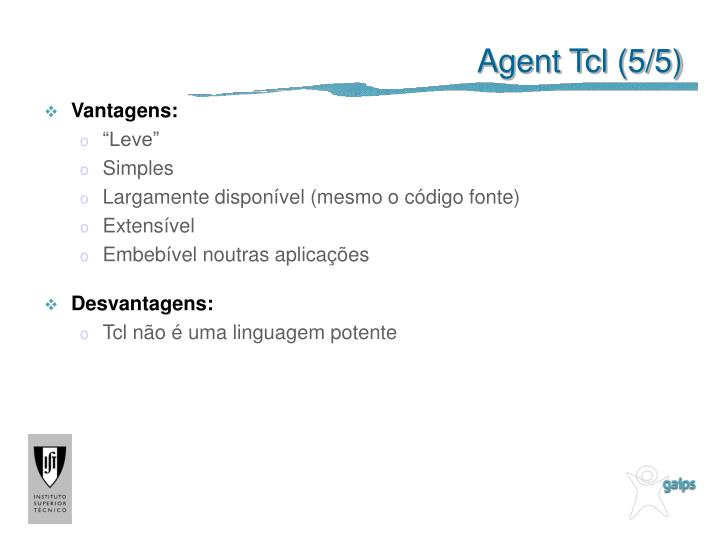 Agent Tcl (5/5)