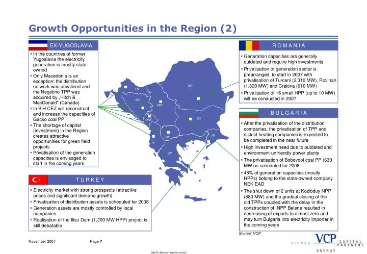Growth Opportunities in the Region (2)