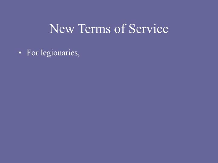 New Terms of Service