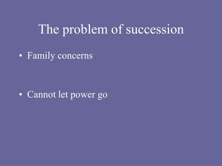 The problem of succession