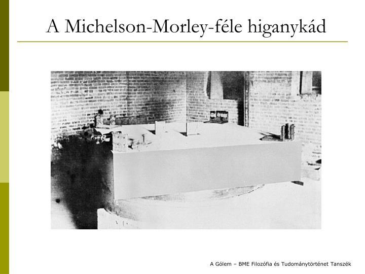 A Michelson-Morley-féle higanykád