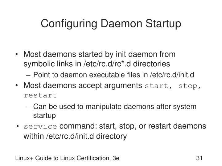 Configuring Daemon Startup