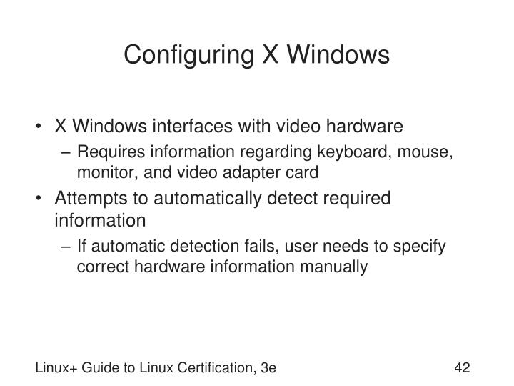 Configuring X Windows