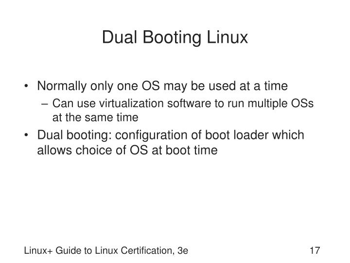 Dual Booting Linux