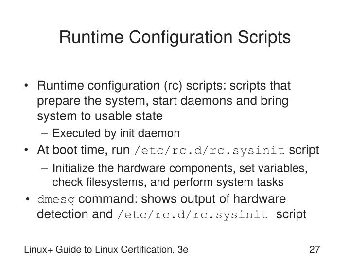 Runtime Configuration Scripts
