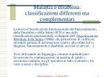 malattia e disabilit classificazioni differenti ma complementari