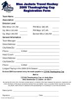 blue jackets travel hockey 2009 thanksgiving cup registration form