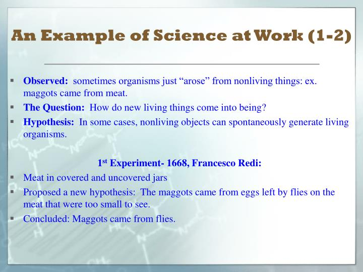 An Example of Science at Work (1-2)
