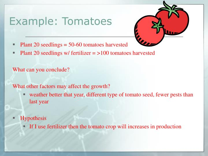 Example: Tomatoes