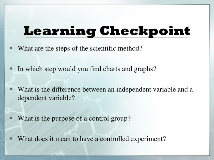 Learning Checkpoint
