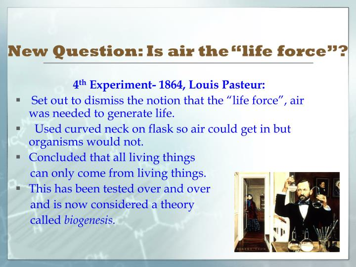"New Question: Is air the ""life force""?"