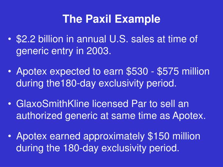 The Paxil Example