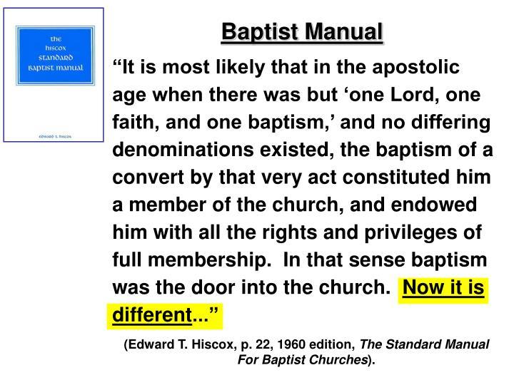 Baptist Manual