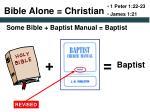 bible alone christian