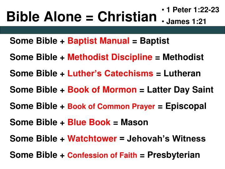 1 Peter 1:22-23