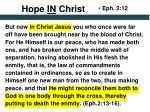 hope in christ