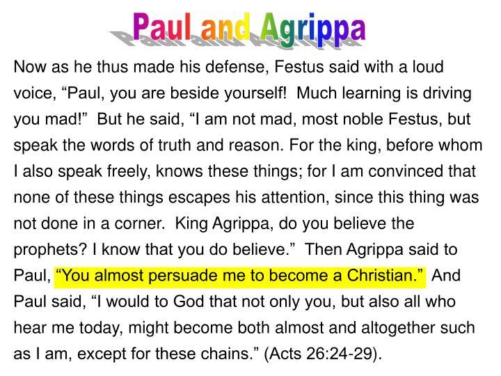 Paul and Agrippa