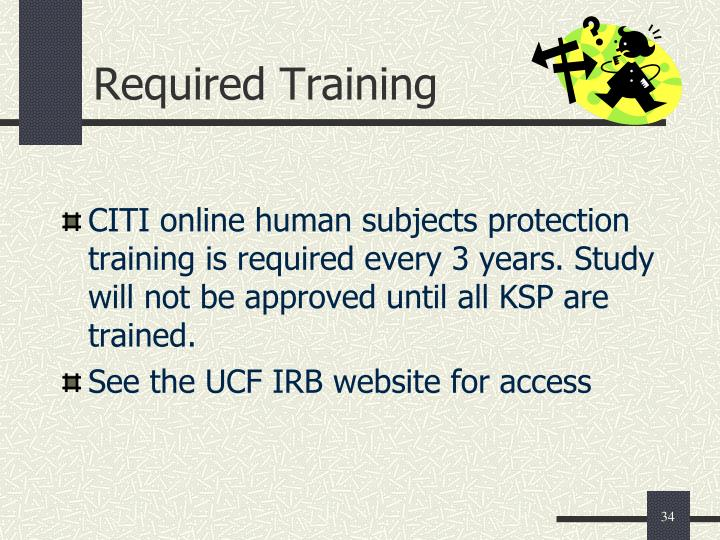 Required Training