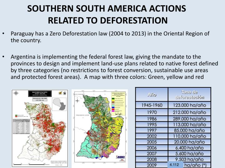 SOUTHERN SOUTH AMERICA ACTIONS
