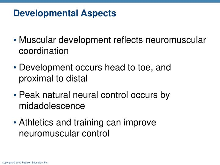 Developmental Aspects