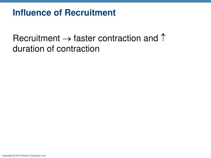 Influence of Recruitment