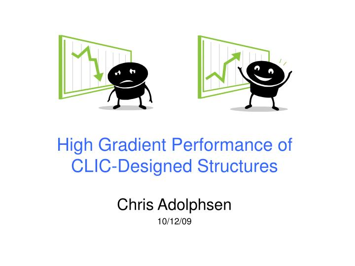 High gradient performance of clic designed structures