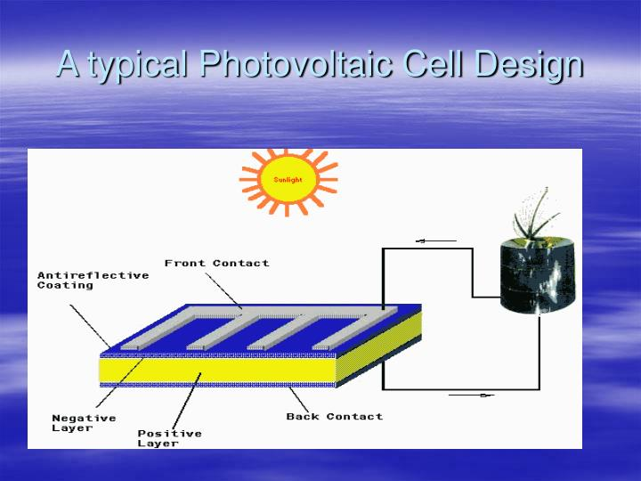 A typical Photovoltaic Cell Design
